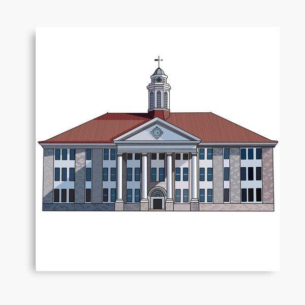 JMU Wilson Hall Full Color - James Madison University Canvas Print