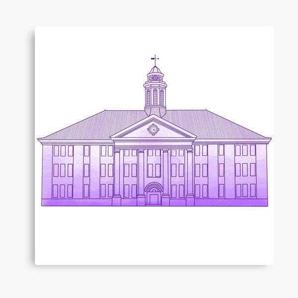 JMU Wilson Hall Purple Ombre - James Madison University Canvas Print