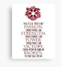 The Sith Code Canvas Print