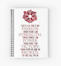 The Sith Code Spiral Notebook