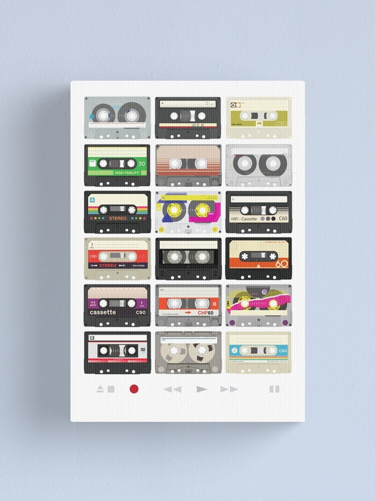 Alternate view of Cassette Tapes (mixtape Love) Canvas Print