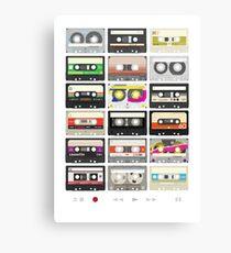 Cassette Tapes (mixtape Love) Canvas Print