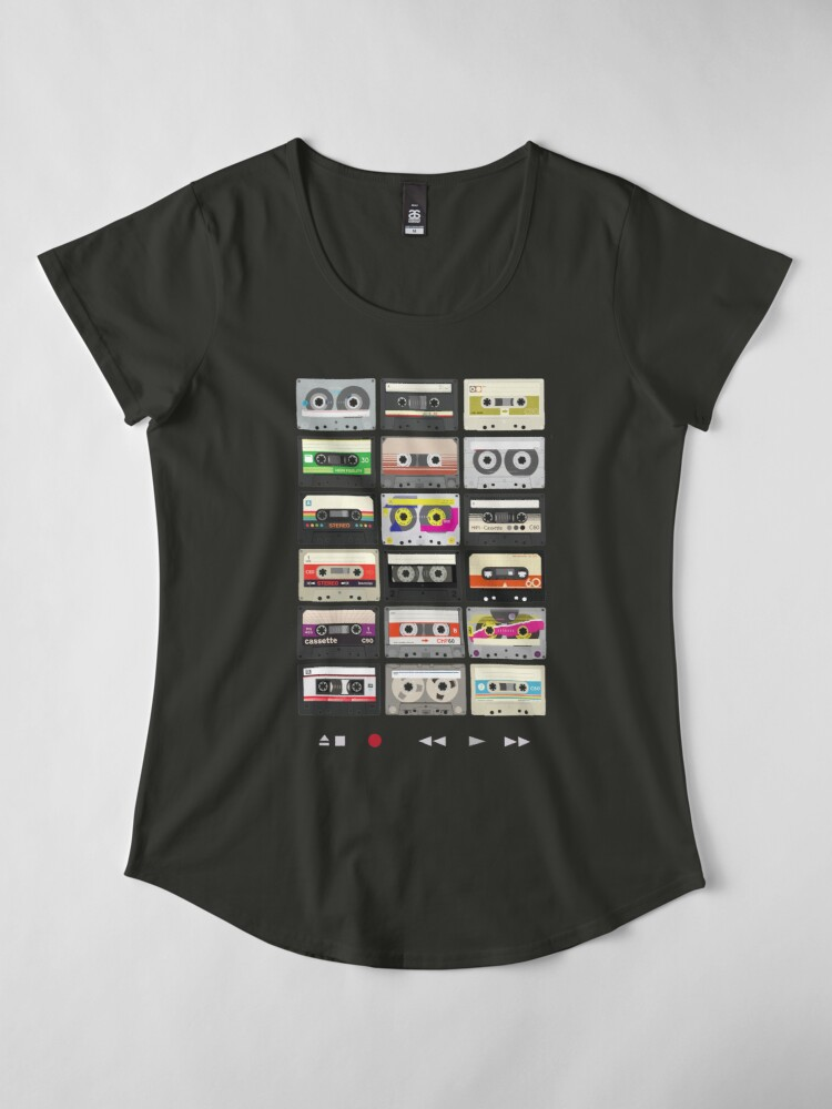 Alternate view of Cassette Tapes (mixtape Love) Premium Scoop T-Shirt