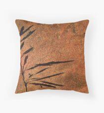 Grass Shadow on Quartzite Throw Pillow