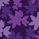 Purple Floral Pattern by designbycheyney