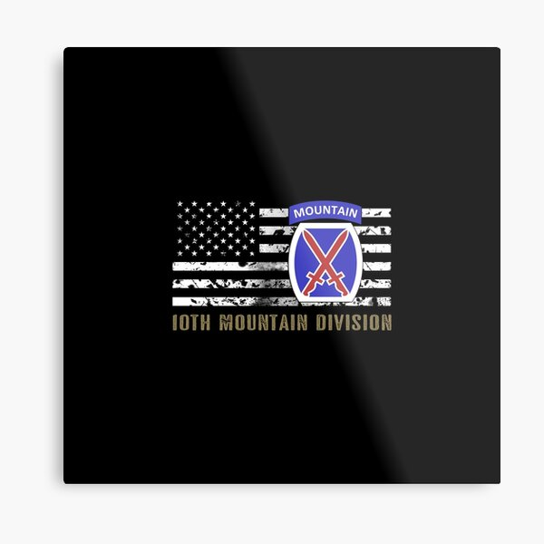 10th Mountain Division (Distressed Flag) Metal Print