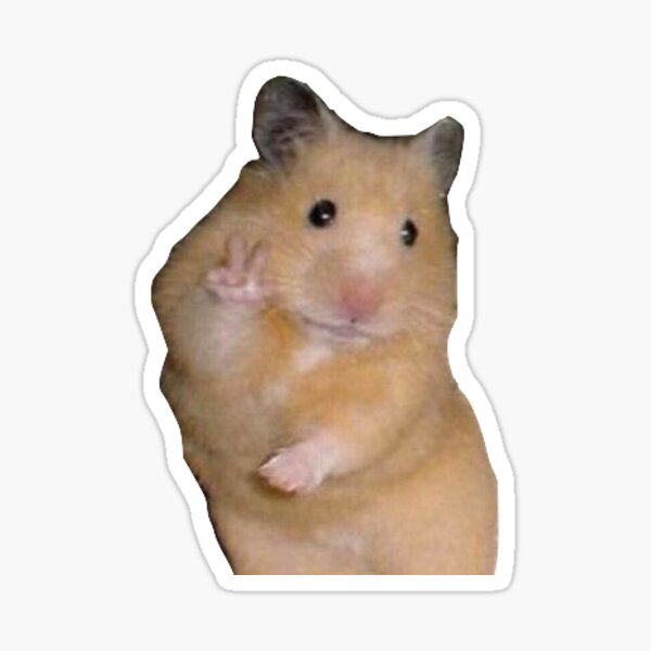 hamster peace sign Sticker