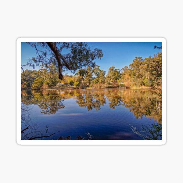 Jubilee Lake Reflections, Daylesford, Victoria, Australia Sticker