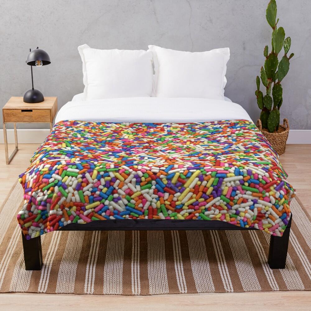 Rainbow Sprinkles Throw Blanket