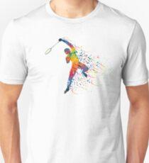 Badminton Jump Smash Slim Fit T-Shirt