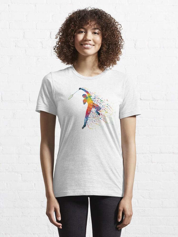Alternate view of Badminton Jump Smash Essential T-Shirt