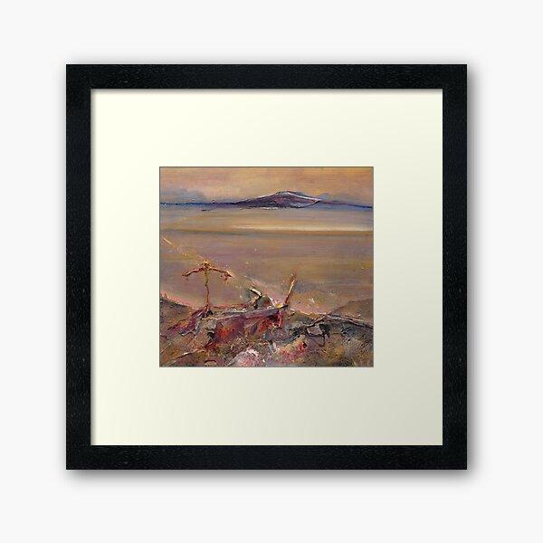 Minesite Sunset- Cue, Western Australia Framed Art Print