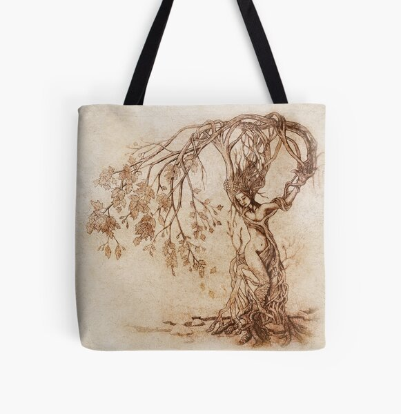 Hedge Witch, the Lady in the Tree All Over Print Tote Bag