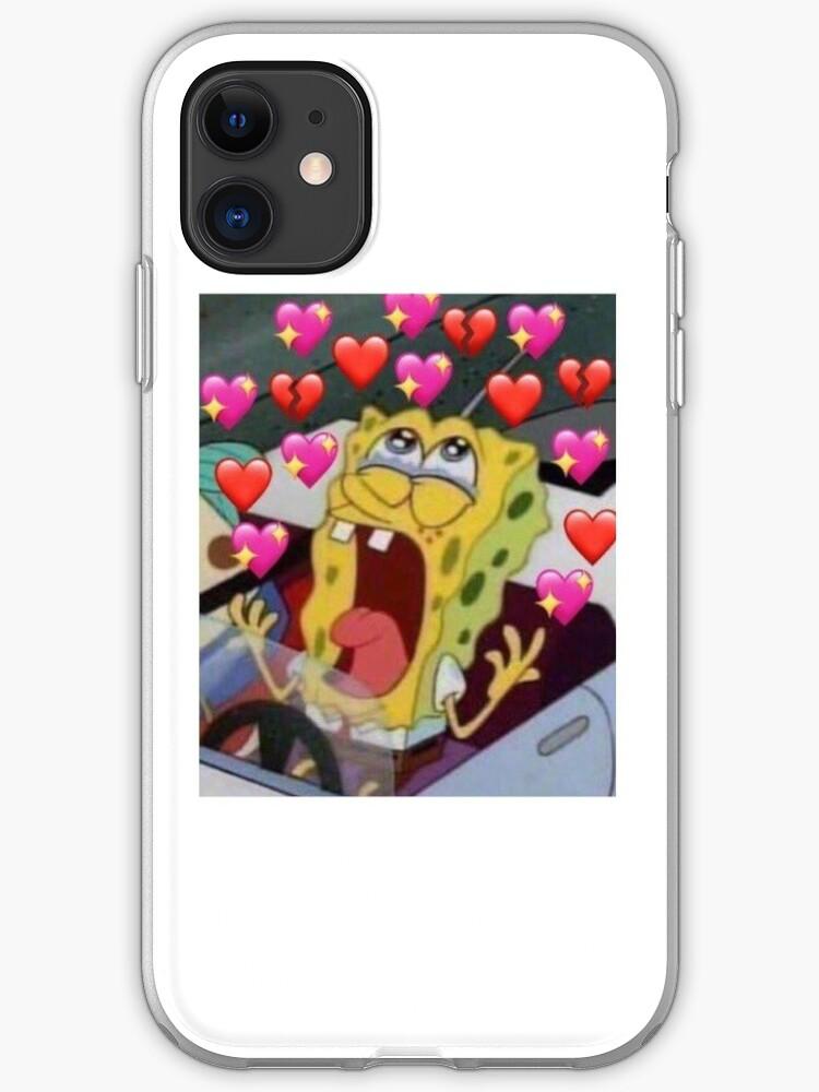 Spongebob Love Meme Iphone Case Cover By Wanderingwatson Redbubble