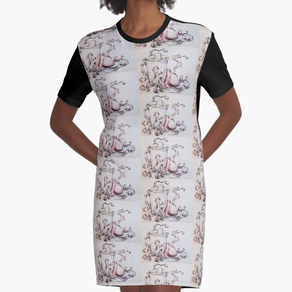 The British Columbian Tea Octopus Graphic T-Shirt Dress