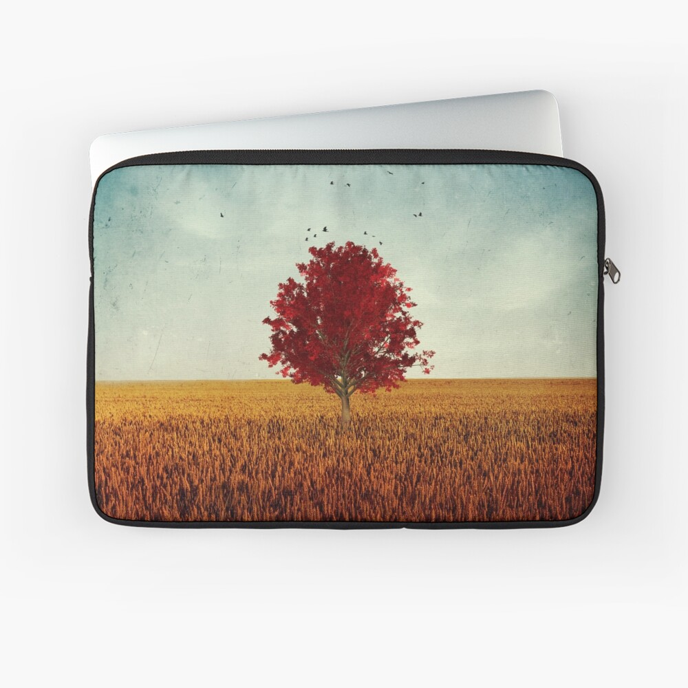 other - red tree in field Laptop Sleeve