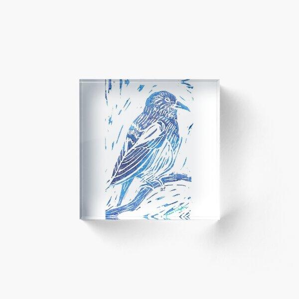 Magpie Bird Acrylic Block