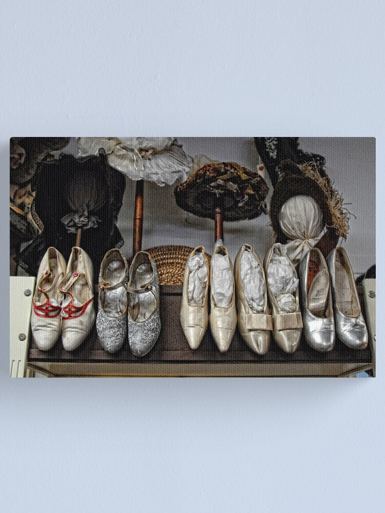 Alternate view of Vintage Shoes and Bonnets Canvas Print