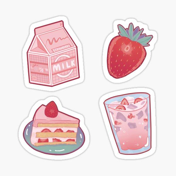 Strawberry Milk Sticker Pack Sticker
