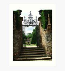 Gate at Athelhampton Art Print