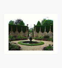 Athelhampton fountains, Dorset Art Print