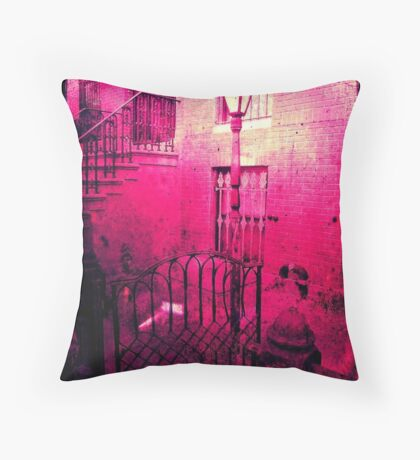 Alice is having a tea party at her Brooklyn Pad  Throw Pillow