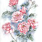 Long-stemmed roses by Marie Theron