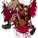 Michael Jordan GOAT Dunker by killustrator