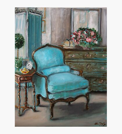 Turquoise Chair Photographic Print