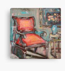 Red Chair Metal Print