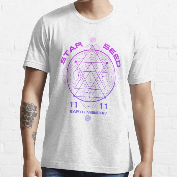 Starseed Sacred Geometry Earth Mission 11:11 Essential T-Shirt