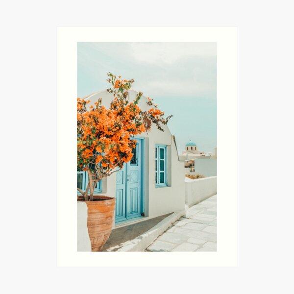 Greece Airbnb II #photography #greece #travel Art Print
