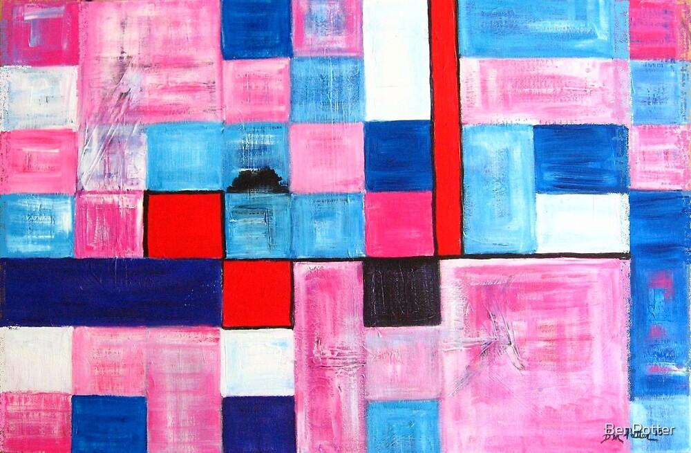 Pink judging Blue by BenPotter