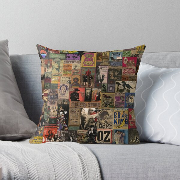 Rock n' Roll Stories II Throw Pillow