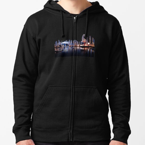 Vacouver City Skyline Zipped Hoodie