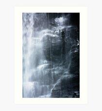 Waterfall abseil Art Print