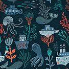 Nautisch. Unter dem Meer. Ocean Vibes. von Anna Alekseeva
