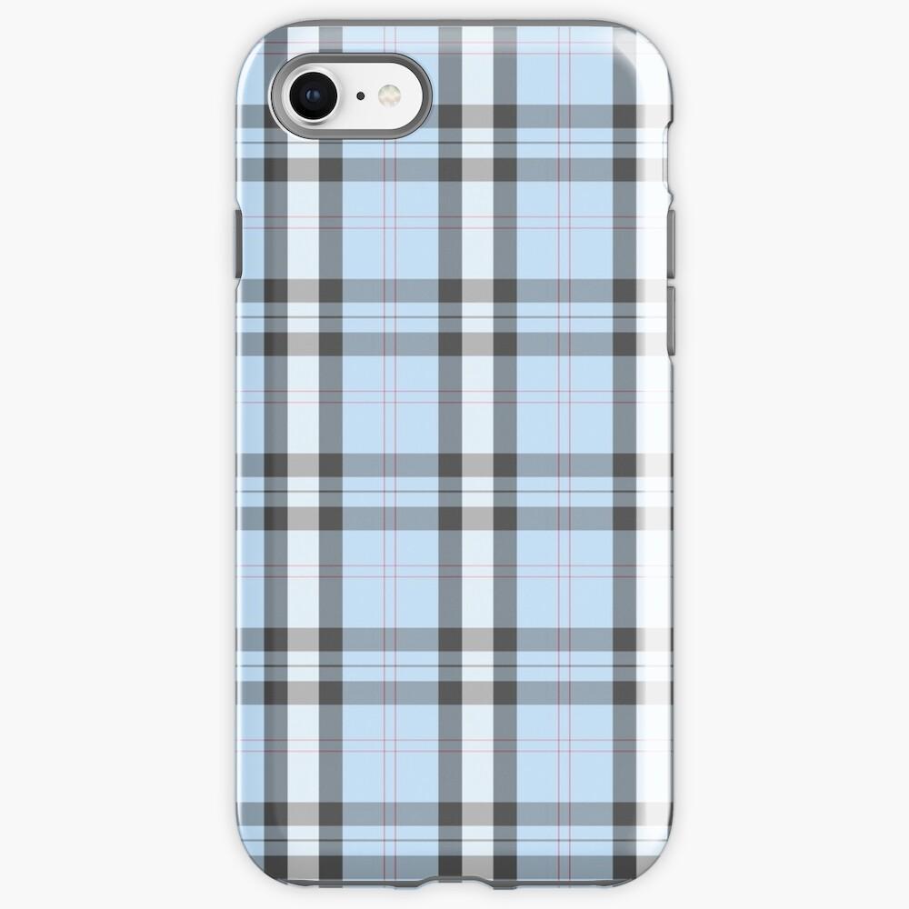 blue pastel plaid iPhone Case & Cover