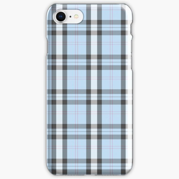 blue pastel plaid iPhone Snap Case