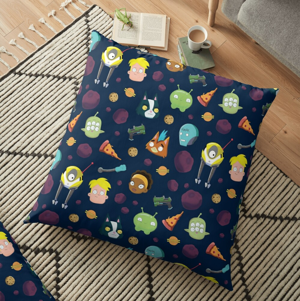 Final Space Character Pattern Floor Pillow
