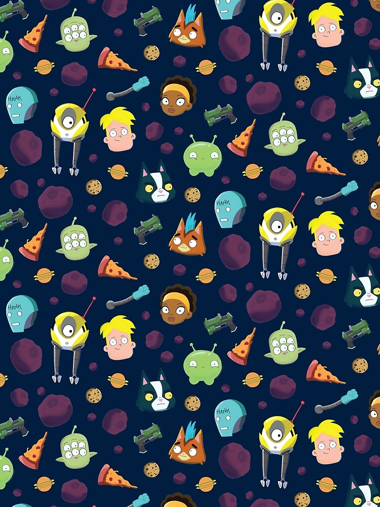 Final Space Character Pattern by fournaans