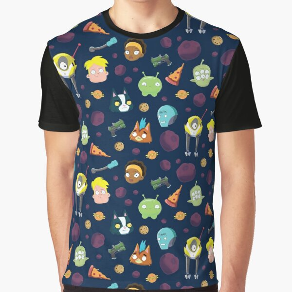 Final Space Character Pattern Graphic T-Shirt