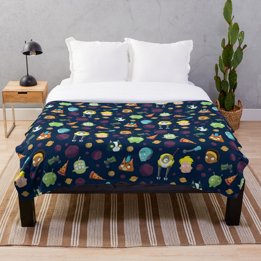 Final Space Character Pattern Throw Blanket