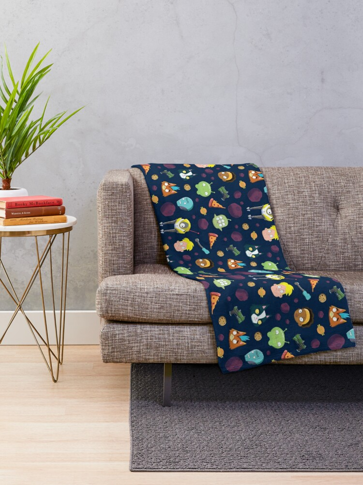 Alternate view of Final Space Character Pattern Throw Blanket