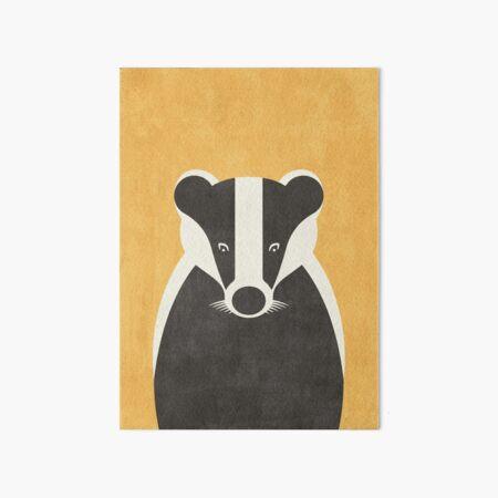 FAUNA / Badger Art Board Print