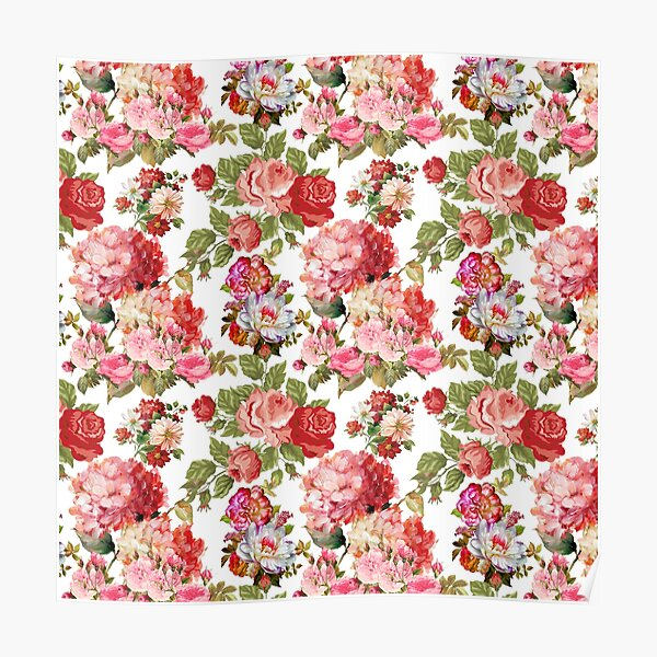 vintage roses Poster