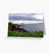 Cloudy Sky Overlooks the Ocean Greeting Card