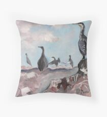 Cape Cormorants Throw Pillow