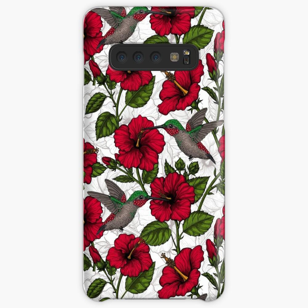 Hibiskusblüten und Kolibris Hüllen & Klebefolien für Samsung Galaxy