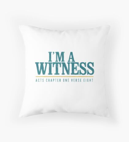 I'm a witness - Acts 1:8 Floor Pillow